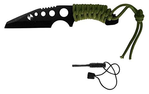 "Rtek 7"" Overall Throwing Knife W/Magnesium Fire Starting Rod Valcro Sheath Incl."