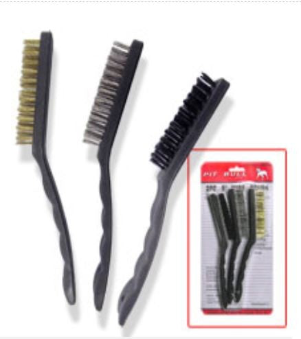 Pit Bull CHIB3946 9-Inch Wire Brush Set, 3-Piece