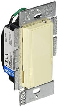 Lutron DV-600PH-AL Diva 600WATT PRESET Clamshell Electrical Distribution Switcher, Almond