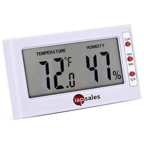 Easy to Read: Indoor Digital Thermometer and Humidity Meter. Large Digital Display Works in Celsius & Fahrenheit. Simple Temperature & Relative Humidity Monitor