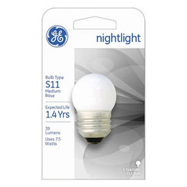GE Lighting 41267 7.5-Watt Nightlight, Soft White, S11 1CD Light Bulb