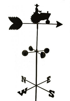 EDM - WEATHER VANE FARM TRACTOR 5 Feet Tall Black Garden Mount Yard  Décor