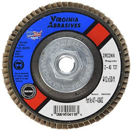 VIRGINIA ABRASIVES 427-43040Z 4-1/2x5/8-11 40G Disc