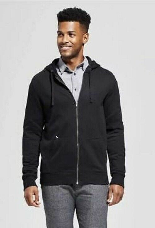 NEW! Men's Standard Fit Sherpa Fleece Jacket - Goodfellow & Co - Black X-Large