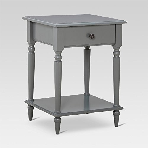 Margate Turned Leg Gray Accent Table - Threshold