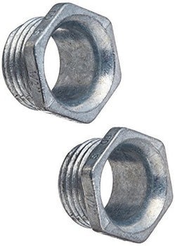 Hubbell-Raco 1662B2 Nipple, Uninsulated, 1/2-Inch Trade Size, Threaded, Zinc, 2-Pack