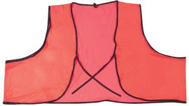 MCR Safety V041 Economy Polyester Mesh PVC Coated Safety Vest, Fluorescent Orange