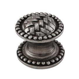 Vicenza Designs K1043 Cestino Beads Knob, Small, Vintage Pewter