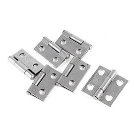 "Uxcell Cupboard Cabinet Rotatable Metal Hinge with 4.3mm Hole, 1"", 6 Piece"