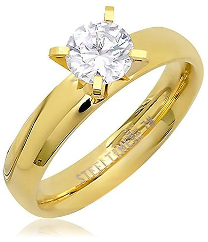 Piatella 18K Gold-Plated Engagement Ring,