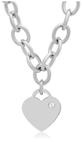 Piatella Swarovski Elements Heart Charm Necklace
