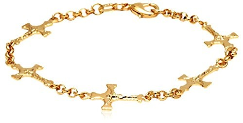 Sevil Gold Cross Charm Bracelet