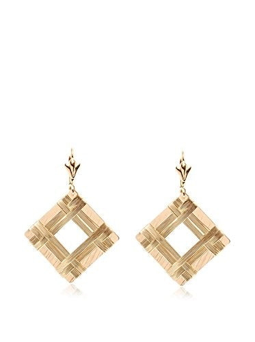 Sevil 18K Gold-Plated Open Square Drop Earrings