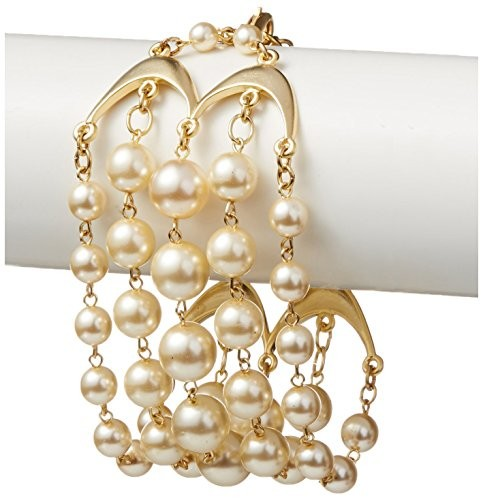 David Aubrey Hadrien Multi-Strand Simulated Pearl Bracelet