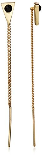 Jules Smith Stone and Triangle Chain Pull Through Earring