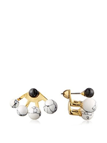 nOir Sphere Multi Semi Precious Earring Jacket