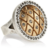 Tat2 Designs Vintage Silver Dome Fishnet Ring