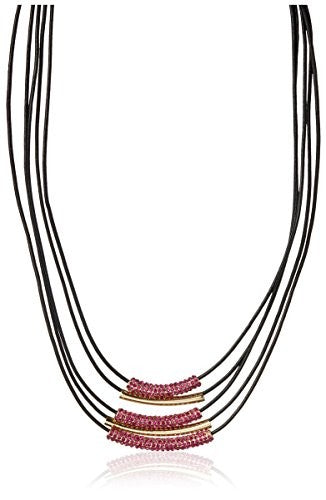 Cohesive Jewels Triple Strand Cord Necklace