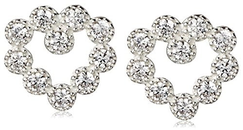 Dolce Vetra Open CZ Heart Earrings