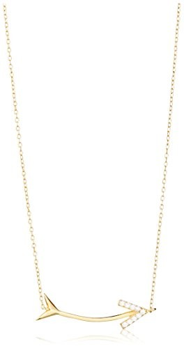 Dolce Vetra CZ Arrow Necklace