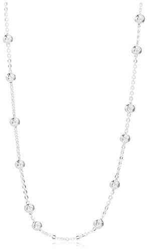 Peermont Jewelry Sterling Silver Ball Station Necklace