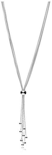 Peermont Jewelry Sterling Silver Rolo Chain Tassel Necklace