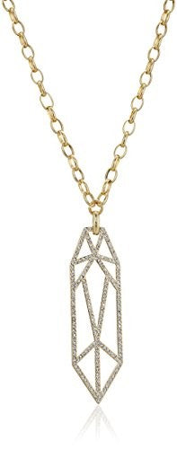 Fragments Crystal Tassel Necklace, 30