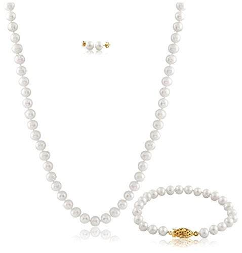 Splendid 3-Piece Cultured Freshwater Pearl Set