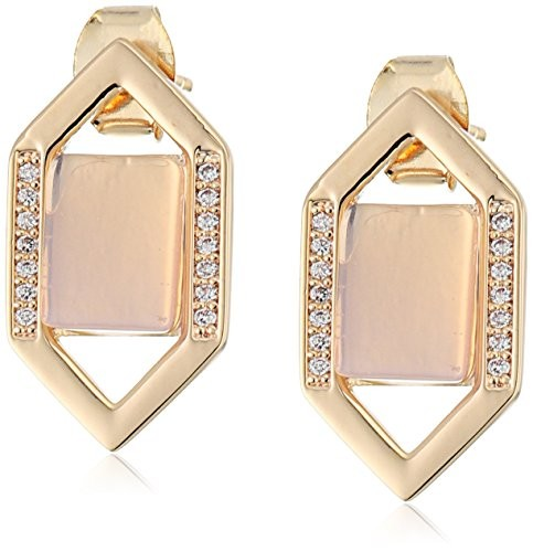 Edison E017 Moonstone/Gold Earrings