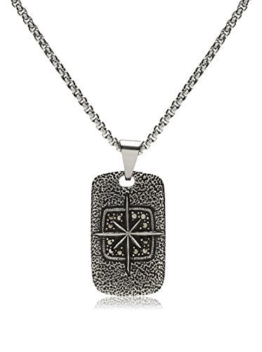 Ed Jacobs Men's Cross Dog Tag Necklace