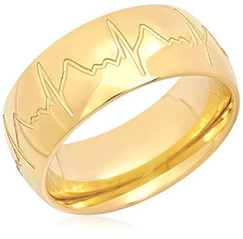 Piatella 18K Gold-Plated Heart Beat Ring