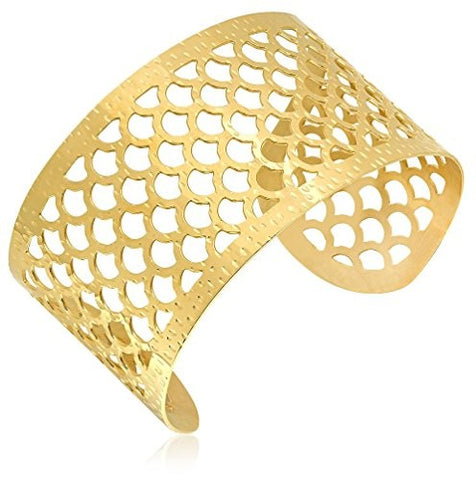 Piatella 18K Gold-Plated Cut Out Cuff