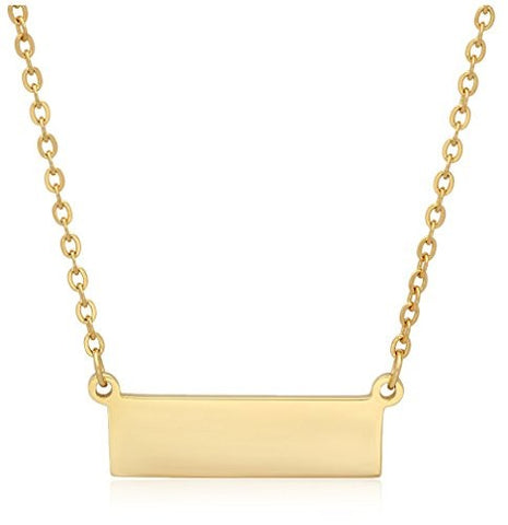 Piatella 18K Gold-Plated Bar Necklace