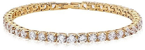 Piatella 18K Gold-Plated Square Tennis Bracelet