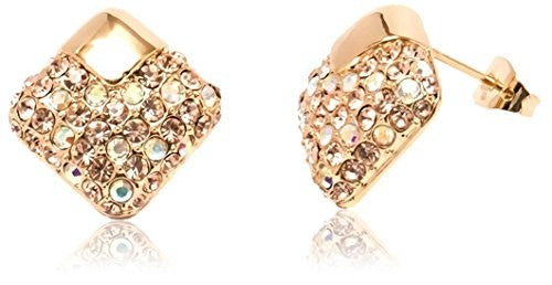Sevil 18K Gold-Plated & Crystal Stud Earrings