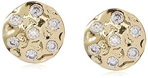 Kevia Button Post Earring with CZ