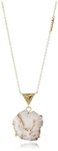 Kevia Pave Set Metal Pyramid with Stalactite Drop Pendant