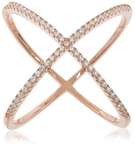 Diamonere Pavé Cage Ring, Rose Gold,
