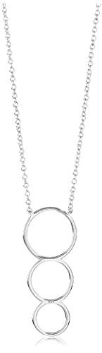 Peermont Jewelry Sterling Silver Graduated Circles Pendant Necklace