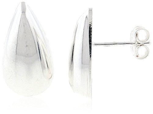 Peermont Jewelry Italian Sterling Silver Teardrop Stud Earrings