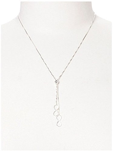 Peermont Jewelry Sterling Silver Double Infinity Lariat Necklace, 17