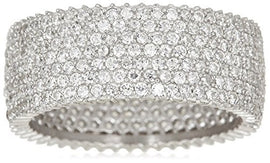 Peermont 925 Sterling Silver 7-Row CZ Eternity Ring