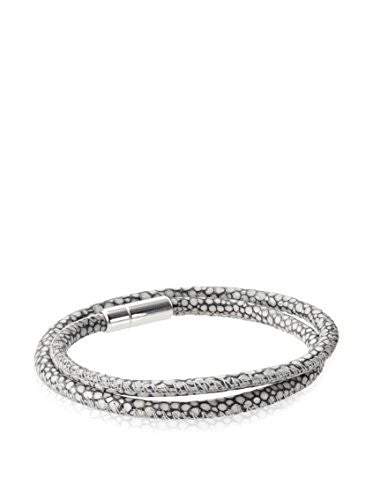 Tateossian Men's Hand-Braided Leather Bracelet - Grey
