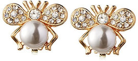 Kenneth Jay Lane Gold-Tone Crystal Bug Earring