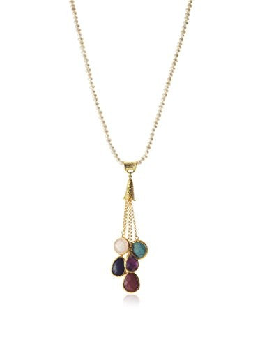 Jardin Multi Gem Tassel Necklace