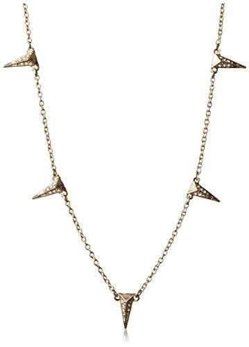 Fragments Pave Wedge Station Necklace