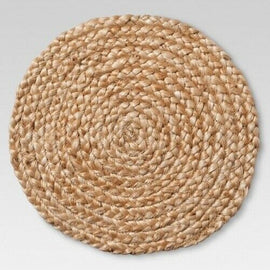 NEW! Natural Jute Braid decorative table plate Charger - Threshold™