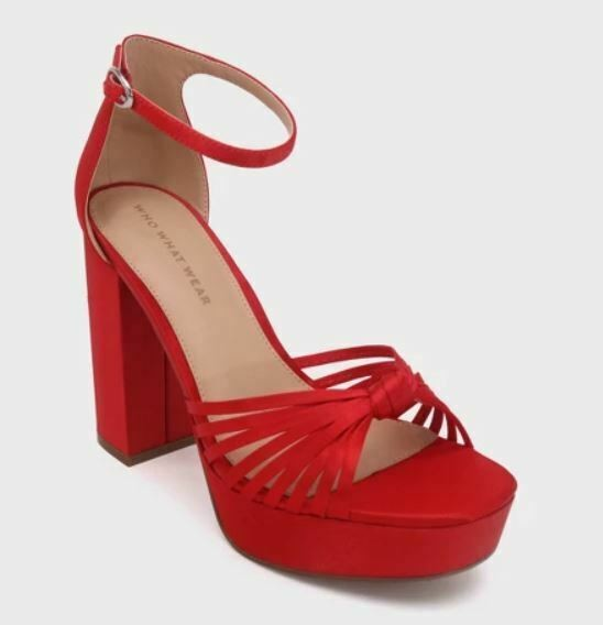 NEW! Women's Ella Satin Knot Platform Heeled Pumps - Who What Wear SIZE 11