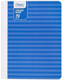 Mead 70 Sheet College Ruled Paper Cover Notebook - Azure