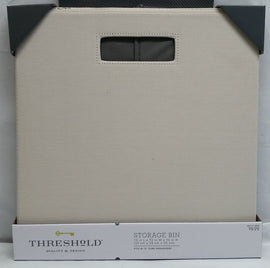 "Threshold Fabric Cube Storage Bin 13"" (Sand)"